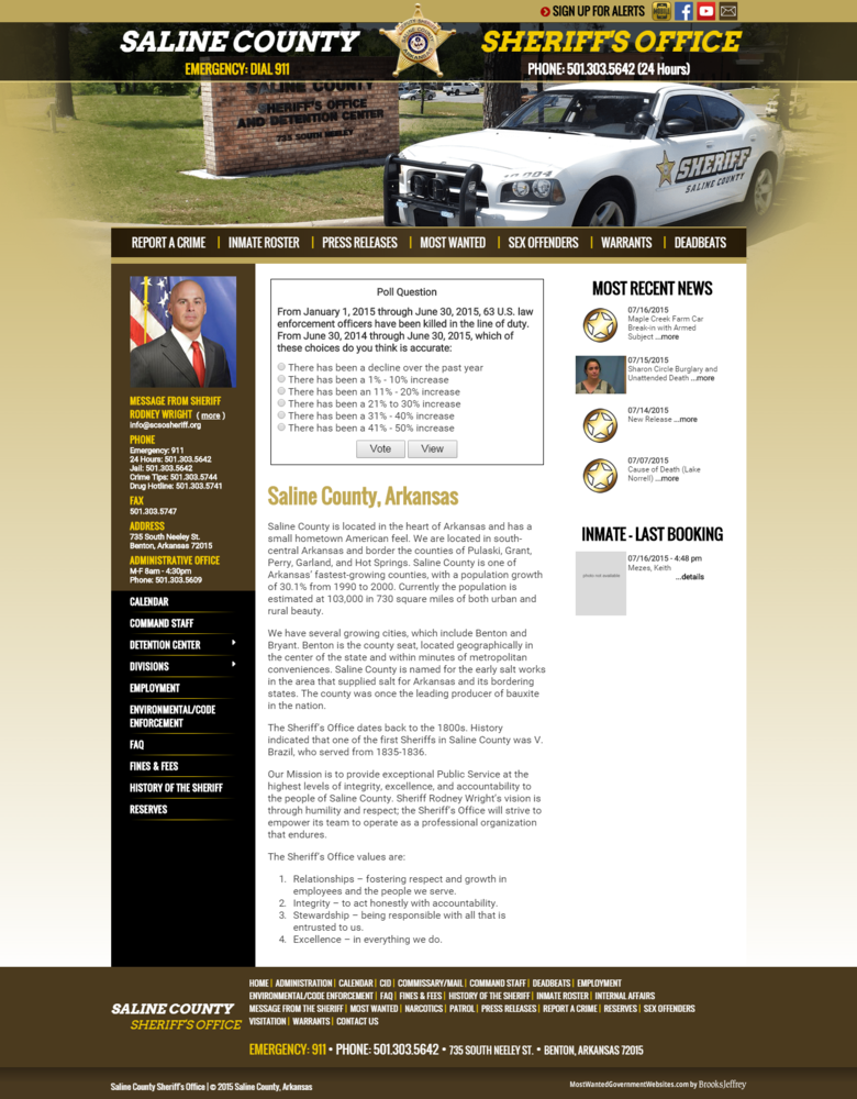 New Mobile Website Launched for Saline County Sheriff's